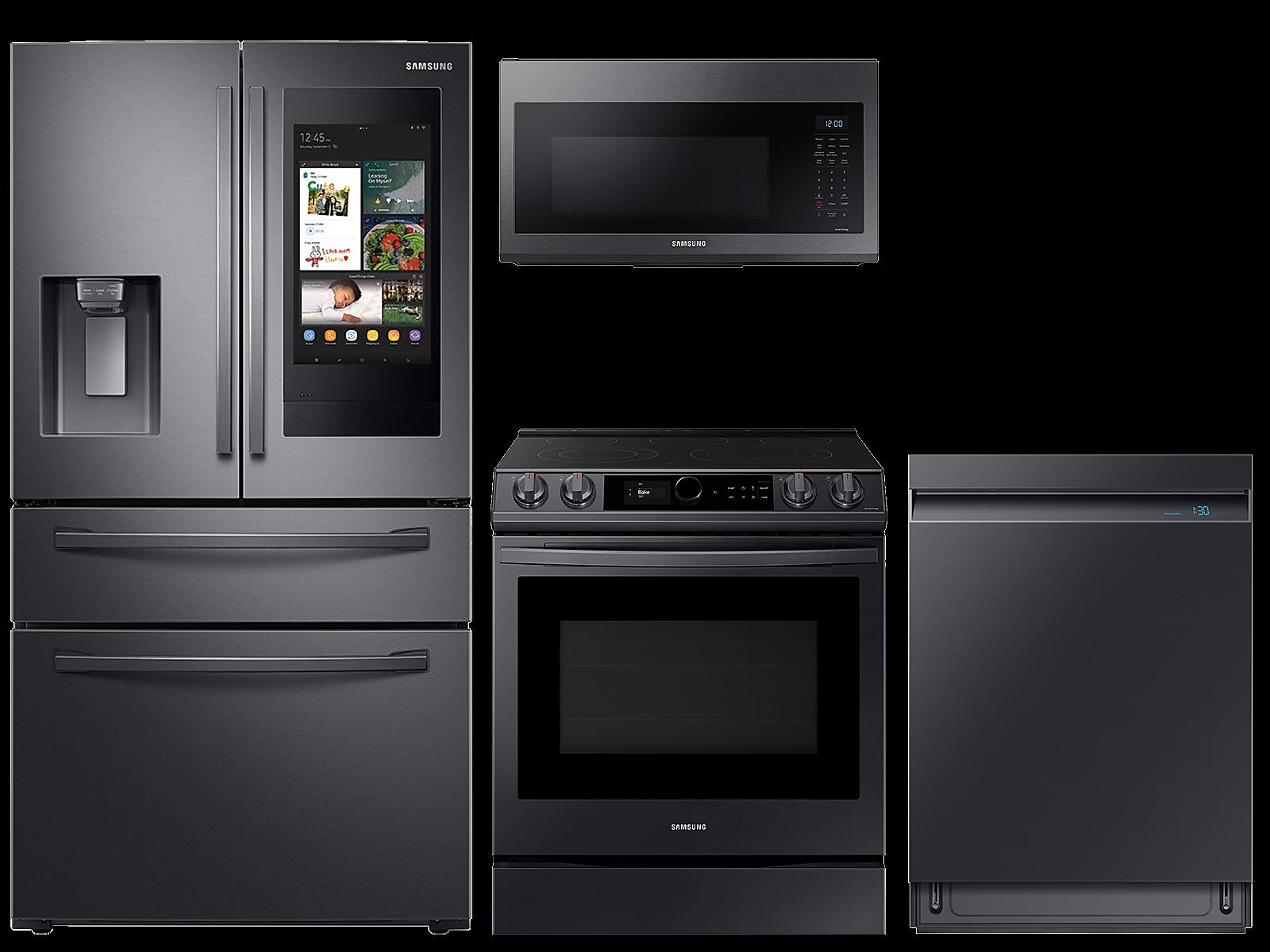 Samsung coupon: Samsung 28 cu. ft. Family HubTM 4-door refrigerator, 6.3 cu. ft. electic range, microwave and Smart Linear dishwasher package(BNDL-1613151704265)