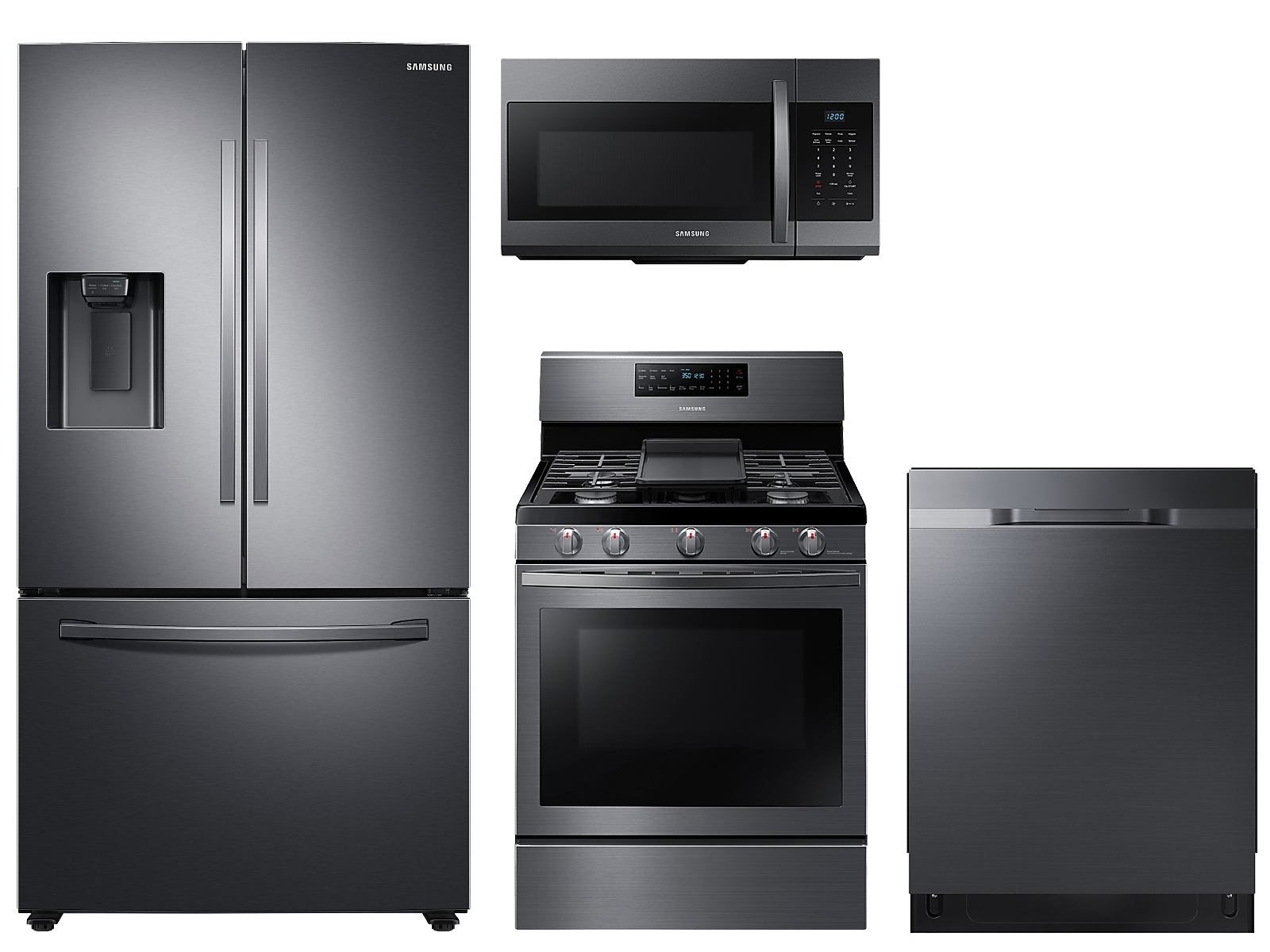Samsung coupon: Samsung 27 cu. ft. 3-door refrigerator, convection gas range, microwave and dishwasher package(BNDL-1612902040826)
