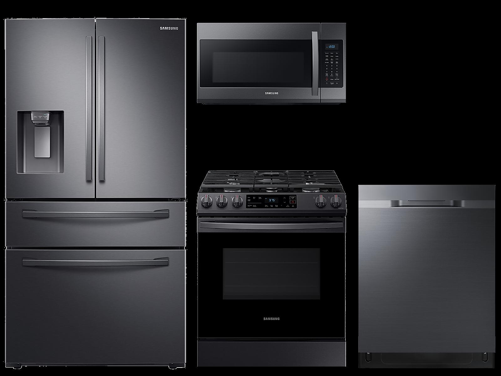 Samsung coupon: Samsung 28 cu. ft. 4-door refrigerator, gas range, microwave and 48 dBA dishwasher package(BNDL-1614026233832)