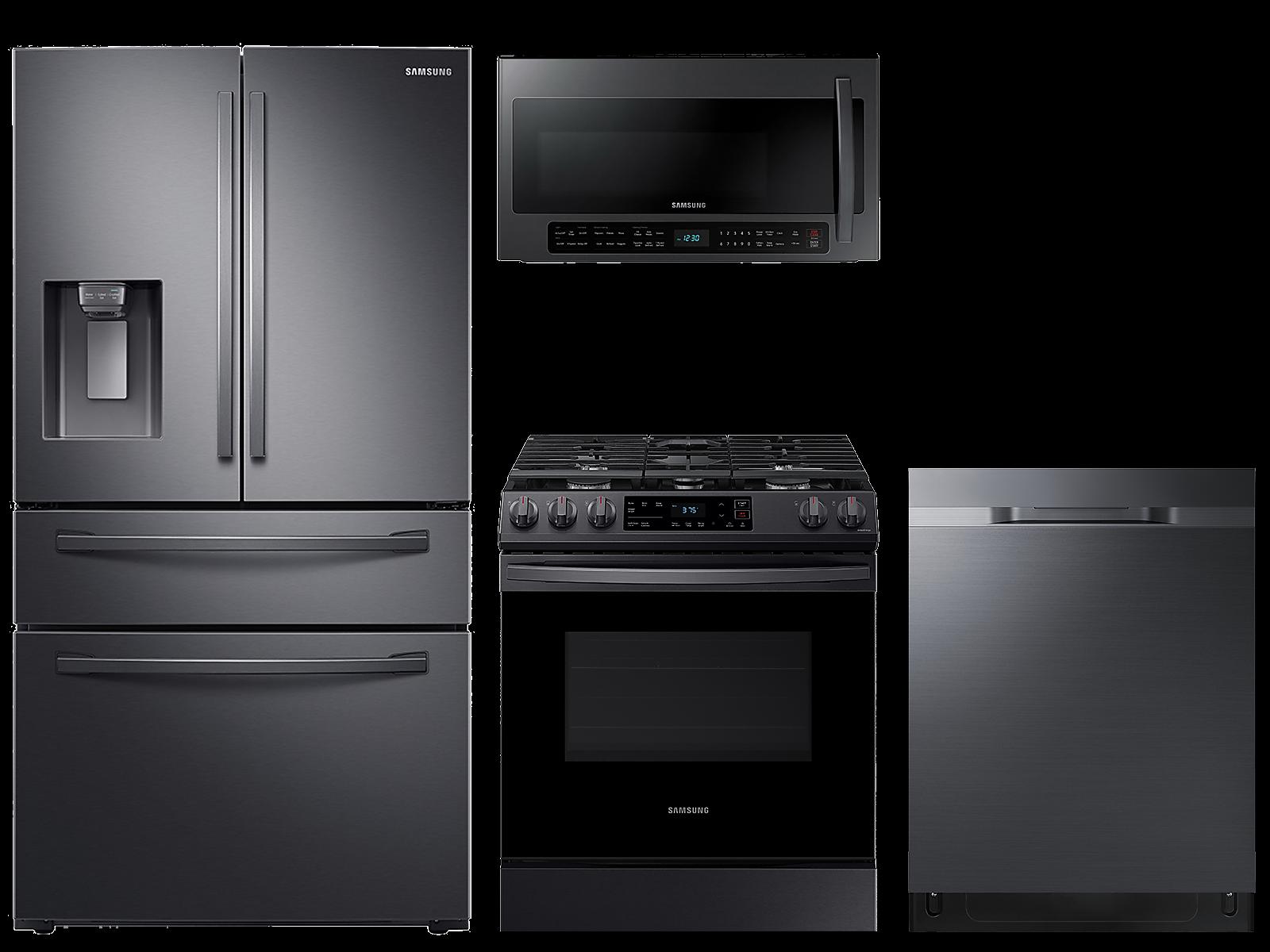 Samsung coupon: Samsung 28 cu. ft. 4-door refrigerator, gas range, 2.1 cu. ft. microwave and 48 dBA dishwasher package(BNDL-1614027154930)