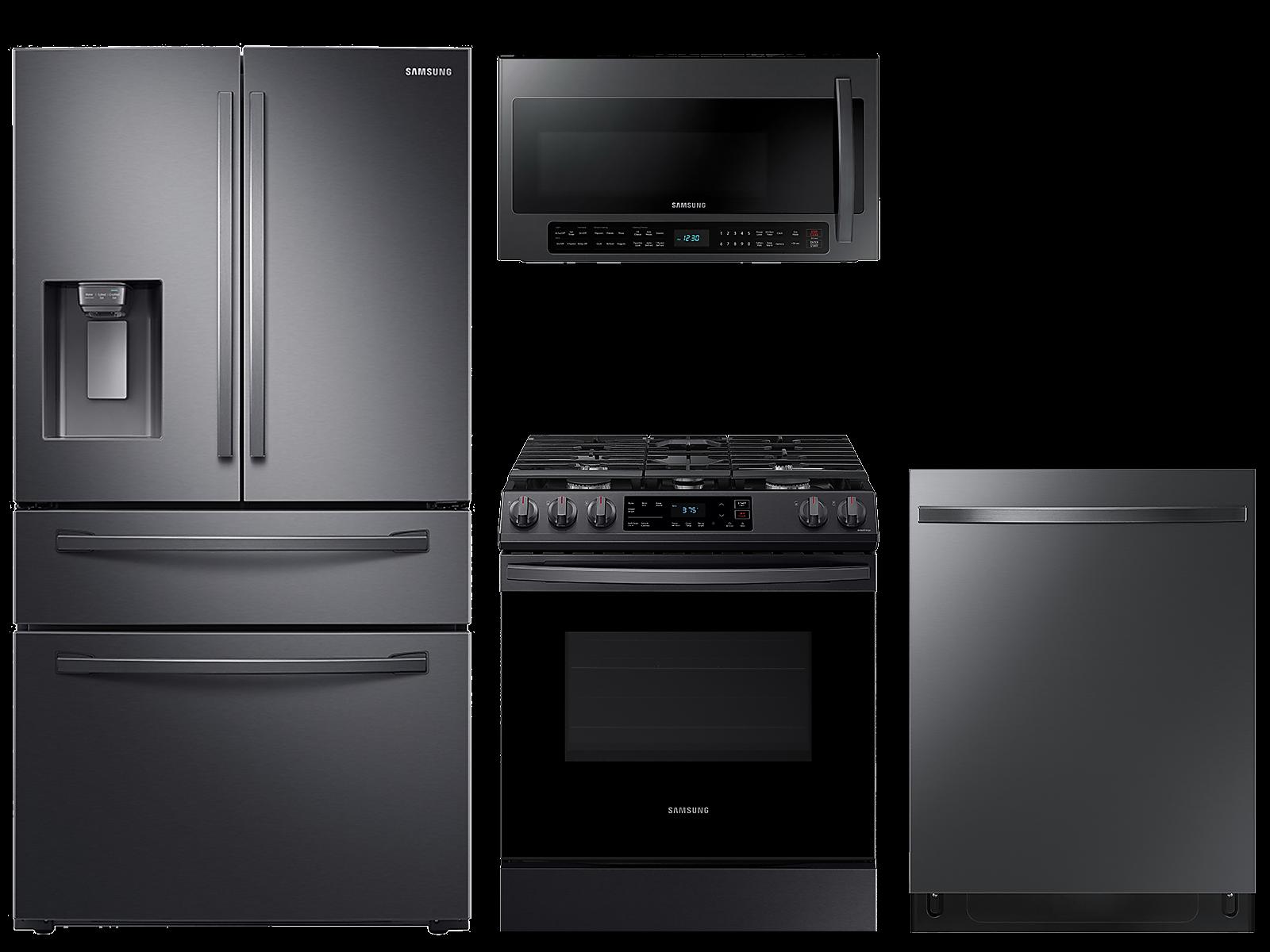 Samsung coupon: Samsung 28 cu. ft. 4-door refrigerator, gas range, 2.1 cu. ft. microwave and 48 dBA modern-look dishwasher package(BNDL-1614027661824)