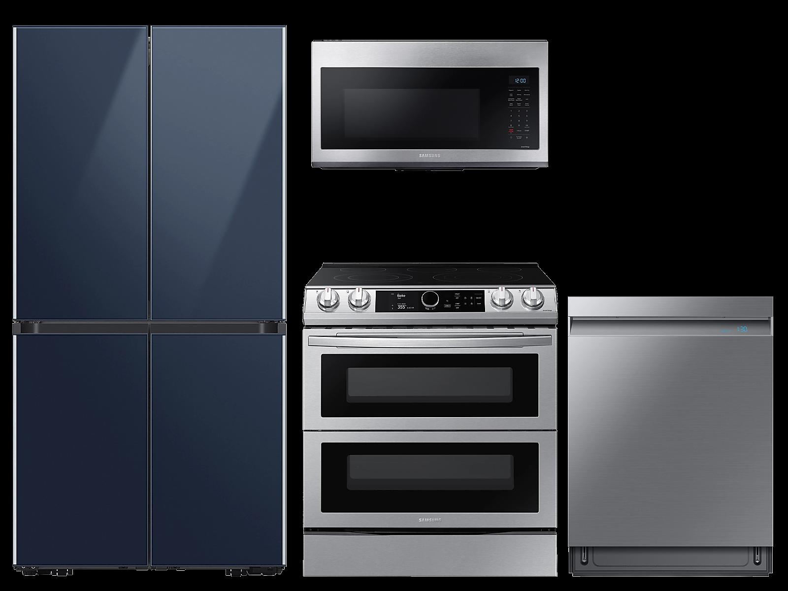 Samsung coupon: Samsung 29 cu. ft. Full Depth BESPOKE 4-Door FlexTM Refrigerator in Navy Blue Glass