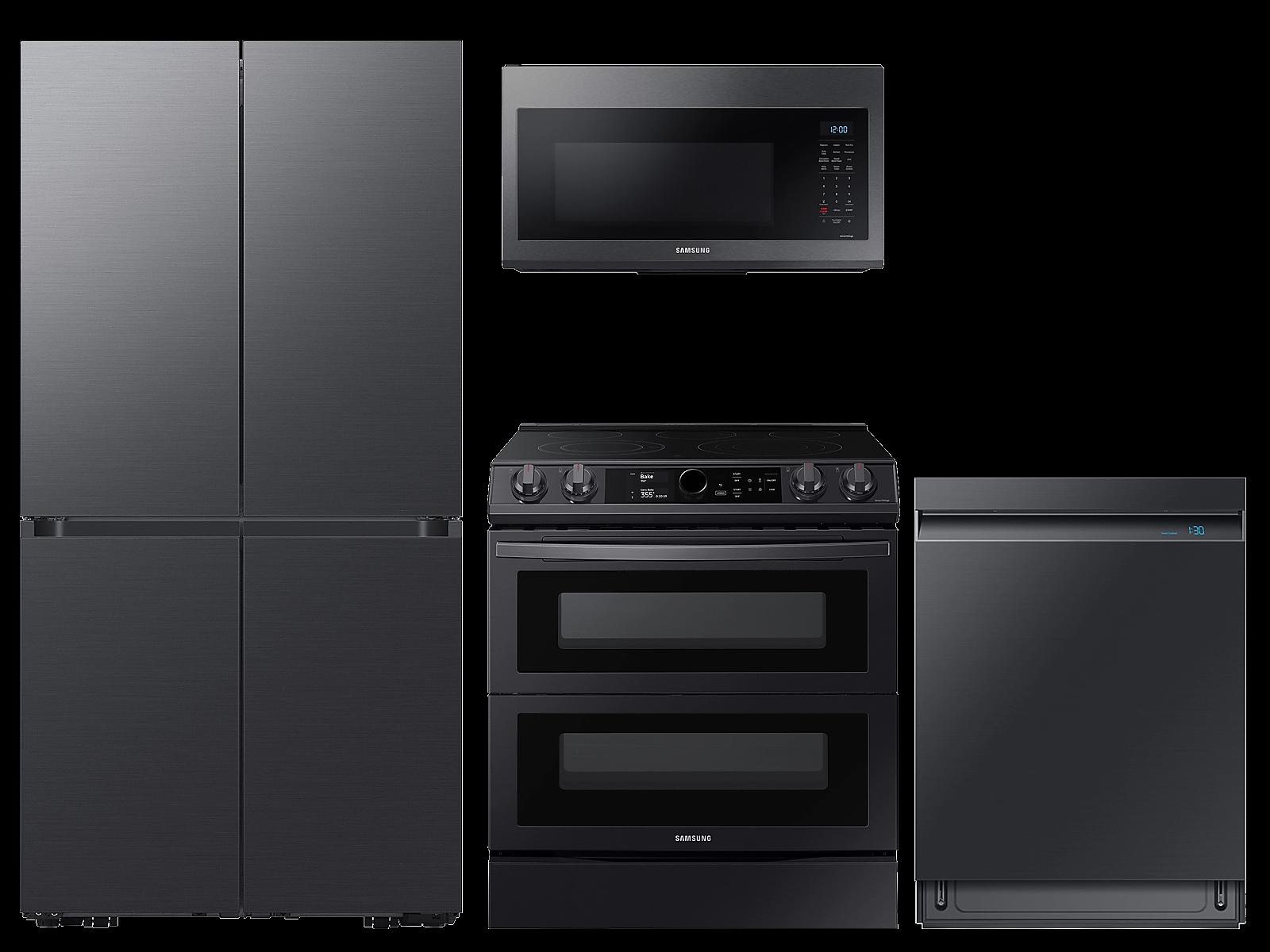 Samsung coupon: Samsung 29 cu. ft. Full Depth BESPOKE 4-Door FlexTM Refrigerator in Matte in Black Steel