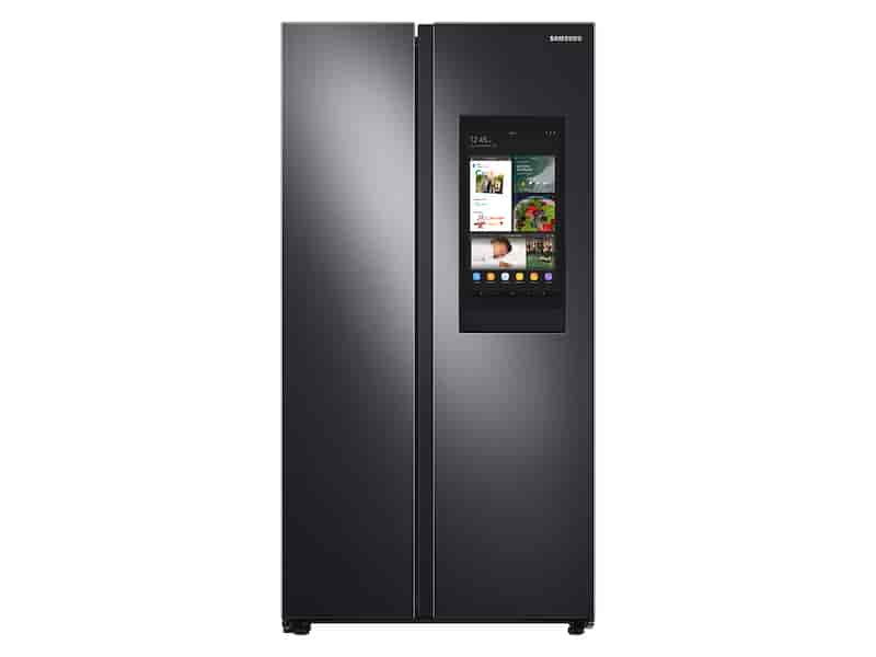27.3 cu. ft. Smart Side-by-Side Refrigerator with Family Hub™ in Black Stainless Steel