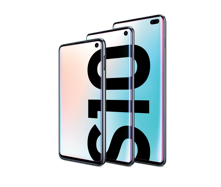 Get the Galaxy S10 starting at<br>299.99 with eligible trade inᶿ