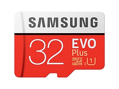 MicroSDHC EVO Plus Memory Card w/Adapter 32GB