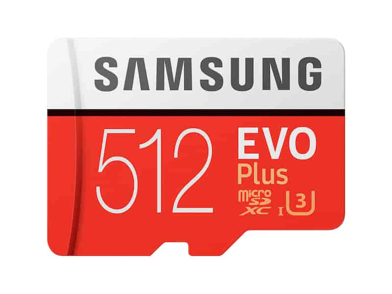 MicroSDXC EVO Plus Memory Card w/Adapter 512GB