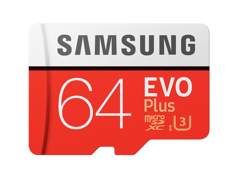 MicroSDXC EVO Plus Memory Card w/ Adapter 64GB (2017 Model) Memory & Storage - MB-MC64GA/AM | Samsung US