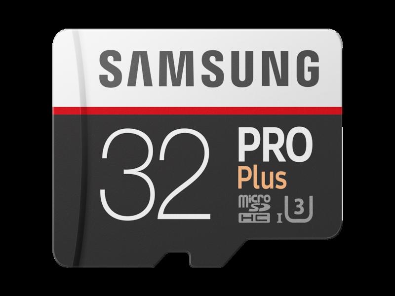 MicroSDHC PRO Plus Memory Card w/ Adapter 32GB