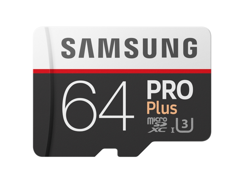 MicroSDXC PRO Plus Memory Card w/ Adapter 64GB (2017 Model) Memory & Storage - MB-MD64GA/AM | Samsung US