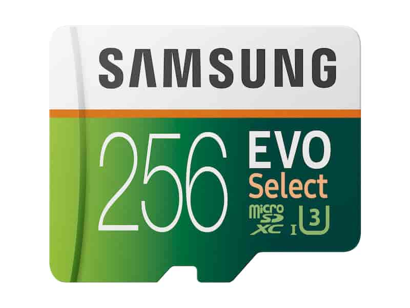 MicroSDXC EVO Select Memory Card w/ Adapter 256GB