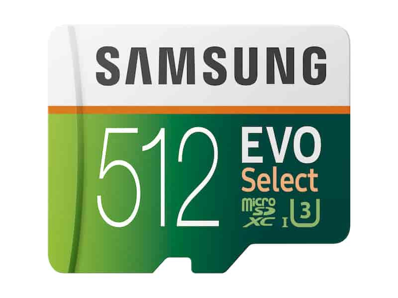 MicroSDXC EVO Select Memory Card w/ Adapter 512GB