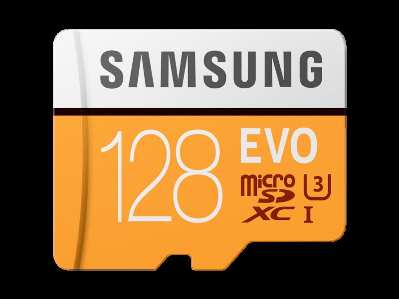 MicroSDXC EVO Memory Card w/ Adapter 128GB