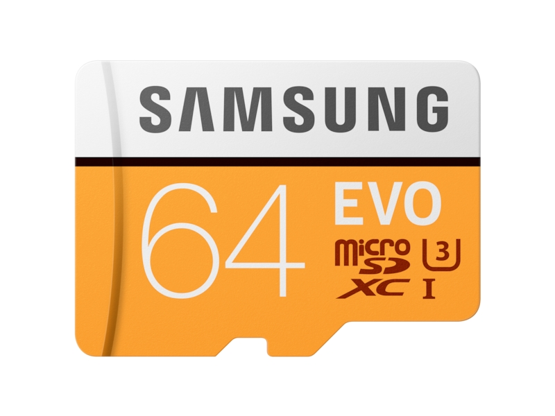 MicroSDXC EVO Memory Card w/ Adapter 64GB Memory & Storage - MB-MP64GA/AM | Samsung US