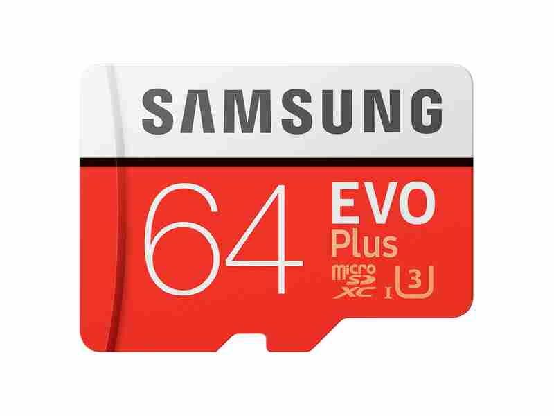MicroSDXC EVO Plus Memory Card w/Adapter 64GB