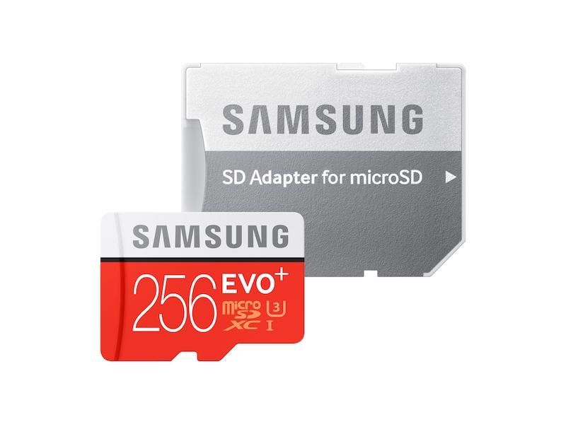 MicroSDXC EVO+ Memory Card w/ Adapter 256GB