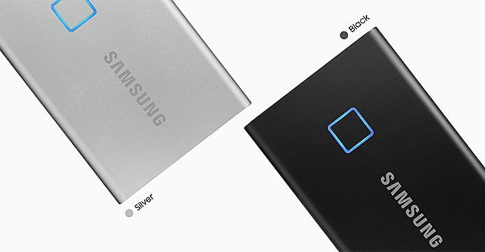 Samsung Portable External SSD T7 TOUCH USB 3.2, Silver and Black 18