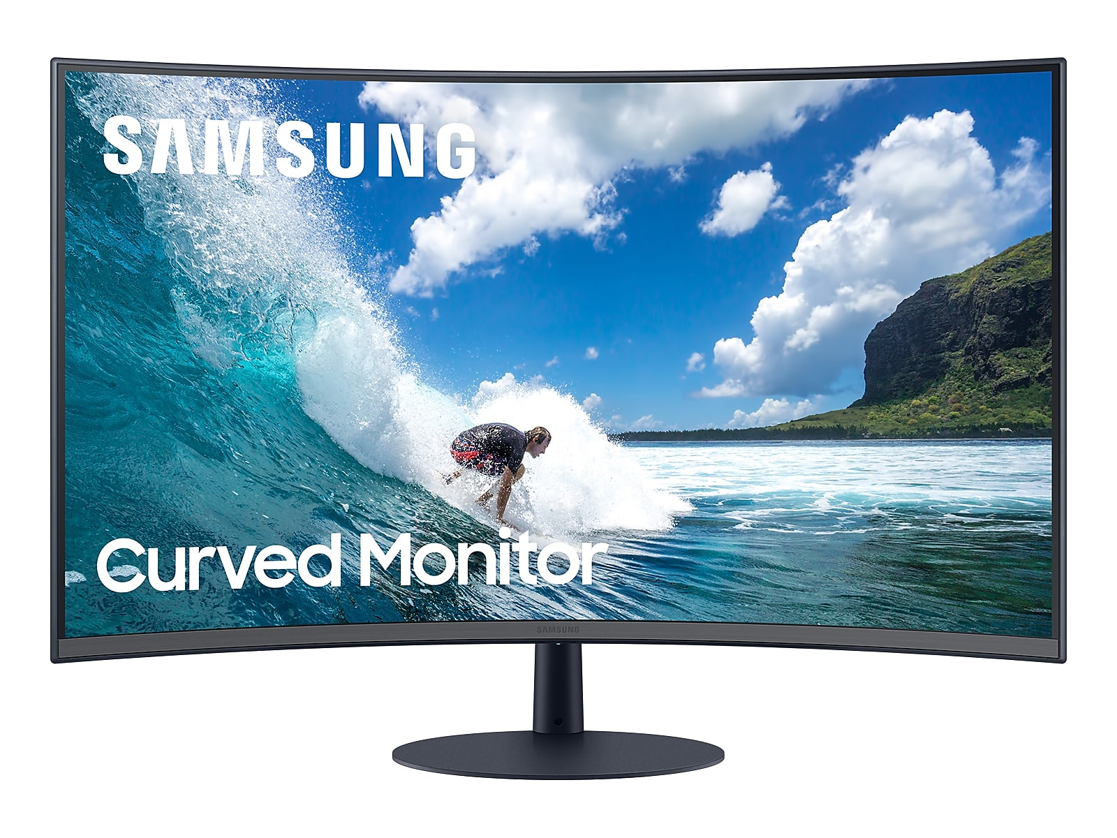 "Samsung 32"" T55 Curved Monitor in Dark Blue Grey(LC32T550FDNXZA)"