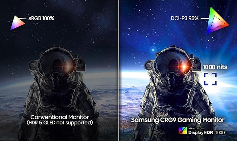 49 Inch Crg9 Dual Qhd Curved Qled Gaming Monitor Monitors Lc49rg90ssnxza Samsung Us