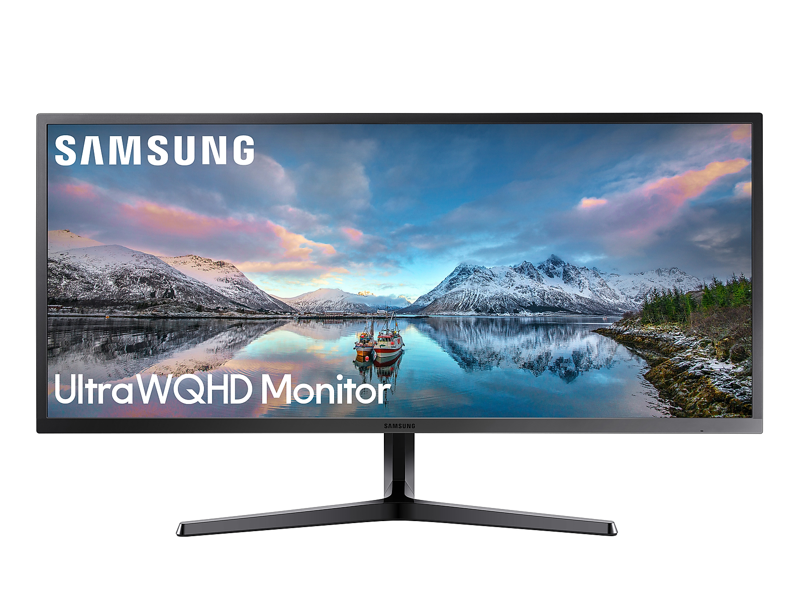 "Samsung 34"" SJ55W Ultra WQHD Monitor in Dark Blue Grey(LS34J550WQNXZA)"