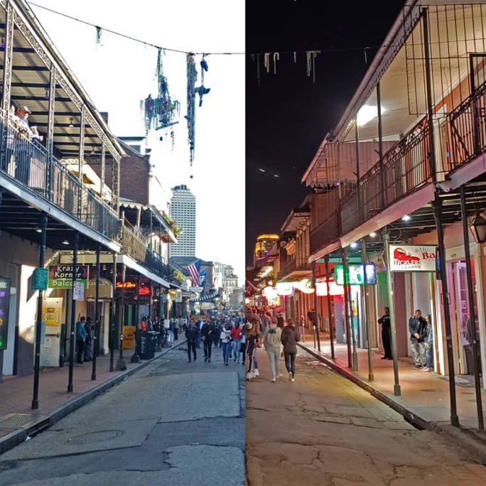 Bourbon Street night time photography and cityscape photography
