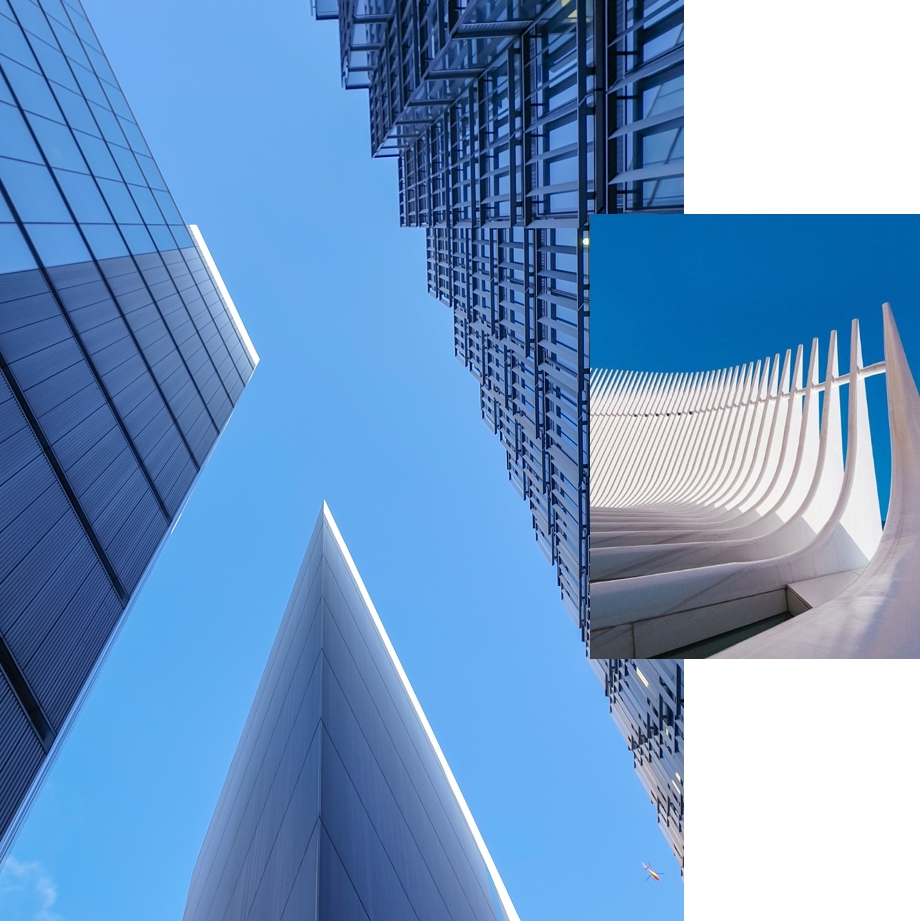 Sharp lines help accent sky photography in London & New York City