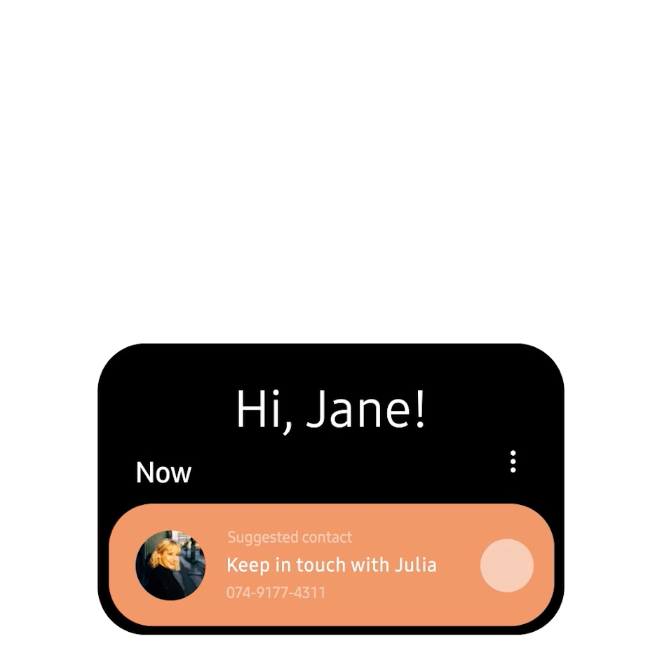 One UI: On-screen interactions