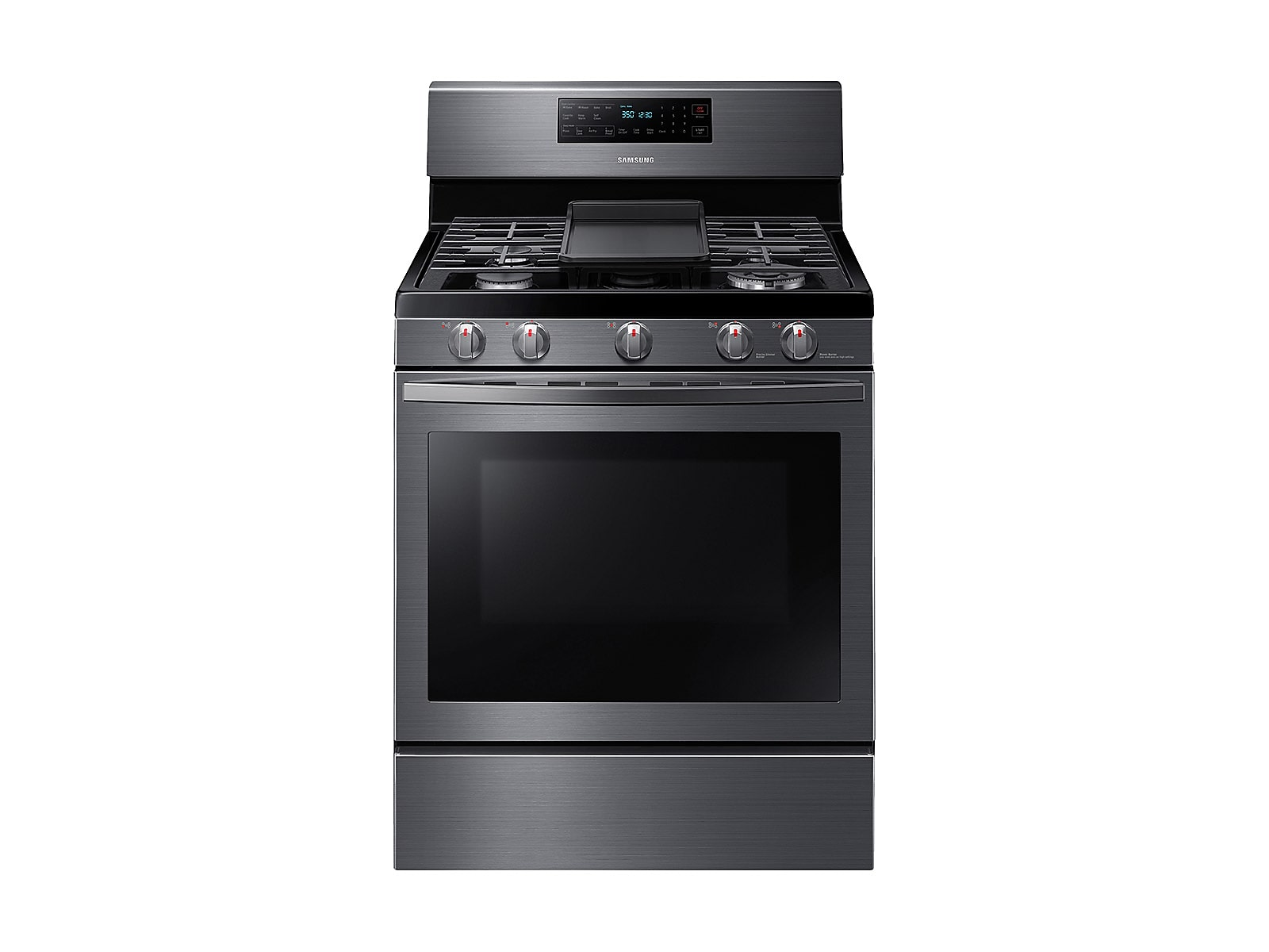 Samsung 5.8 cu. ft. Freestanding Gas Range with Air Fry and Convection in Black Stainless Steel(NX58T7511SG/AA)
