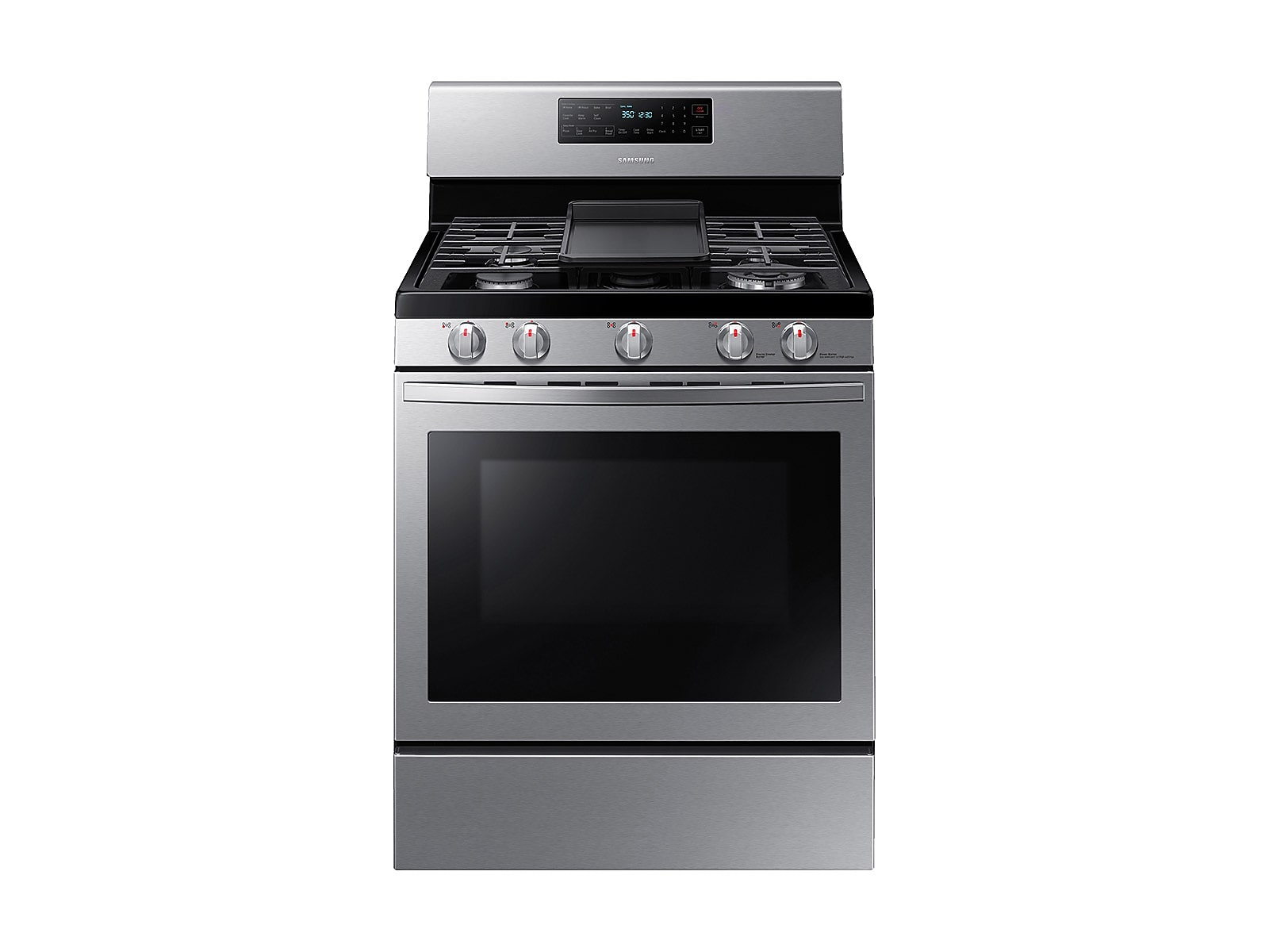 Samsung 5.8 cu. ft. Freestanding Gas Range with Air Fry and Convection in Stainless Steel(NX58T7511SS/AA)