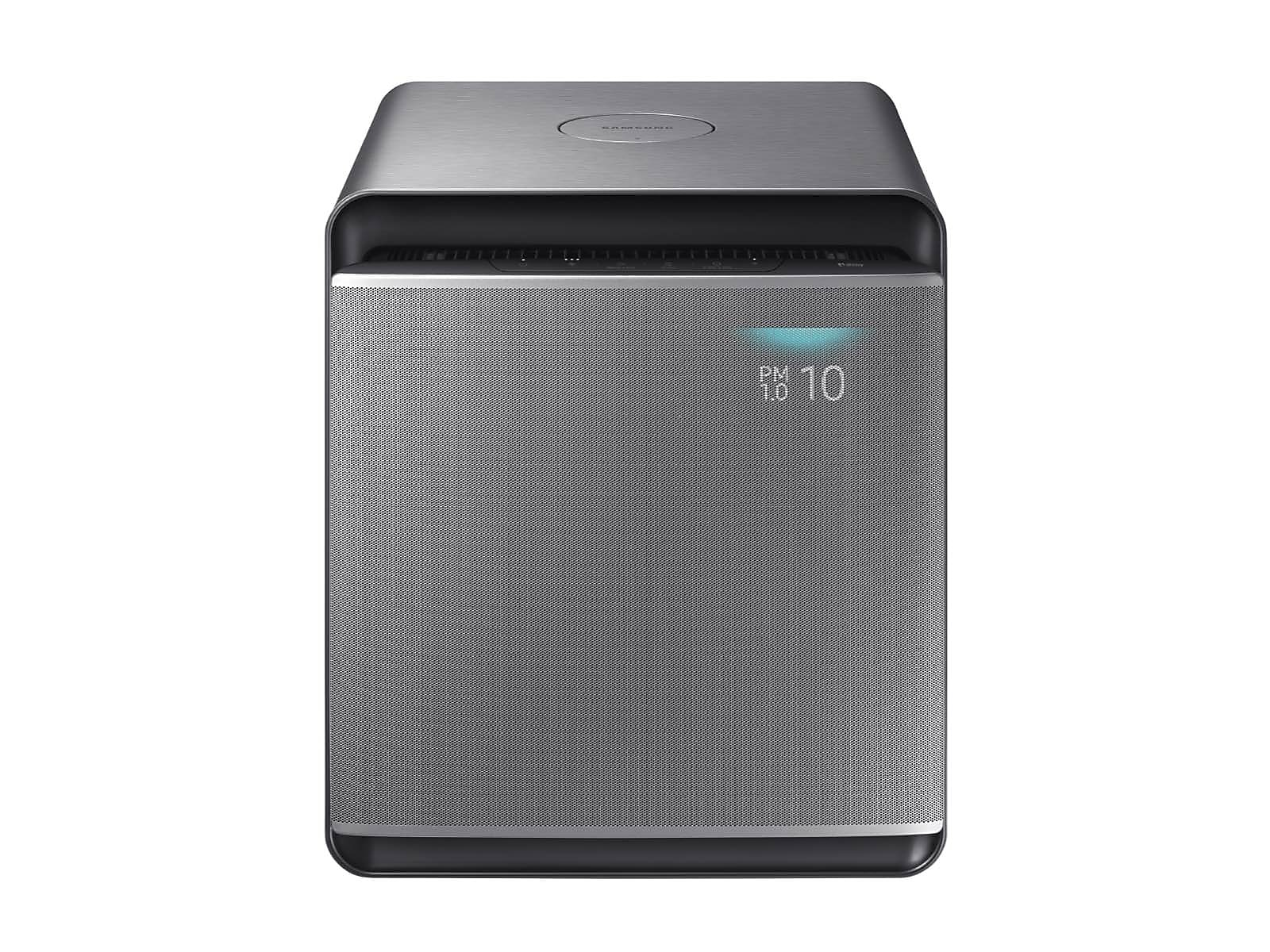 Samsung coupon: Samsung Cube Smart Air Purifier with Wind-Free Air Purification in Honed in Silver(AX300T9080S/AA)