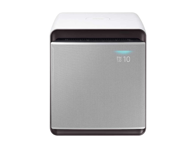 Cube Smart Air Purifier with Wind-Free Air Purification in Honed Silver