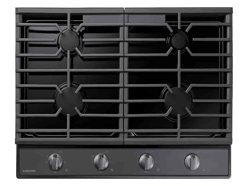 "30"" Gas Cooktop in Black Stainless Steel"