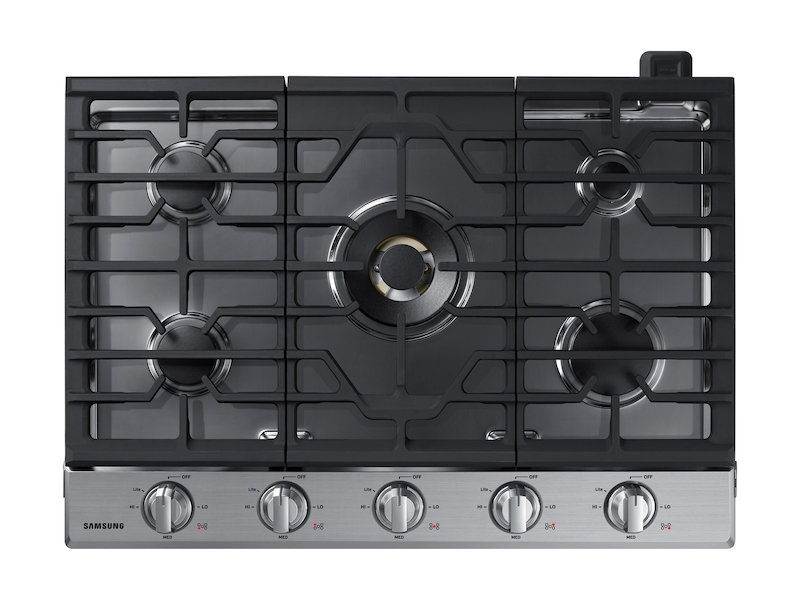 30 Inch Gas Cooktop With 22k Btu Dual Power Burner In Stainless Steel Cooktop Na30n7755ts Aa Samsung Us