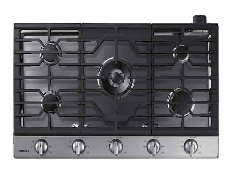 "36"" Gas Cooktop in Stainless Steel"
