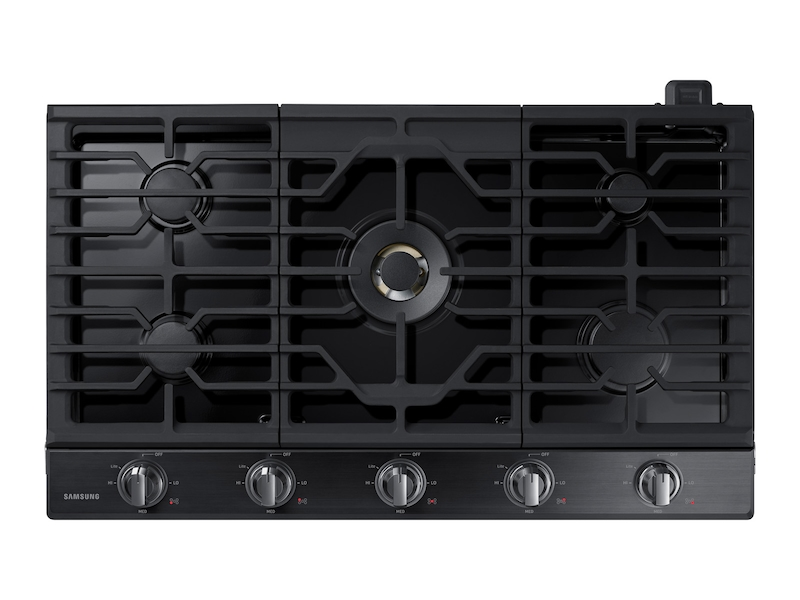 36 Gas Cooktop With 22k Btu Dual Burner In Black Stainless Steel