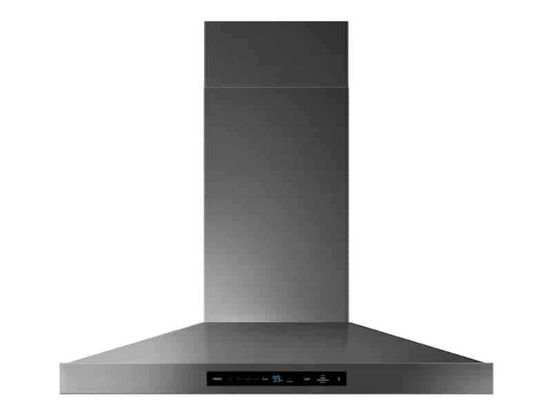 """36"""" Chef Collection Wall Mount Hood in Matte Black Stainless Steel"""