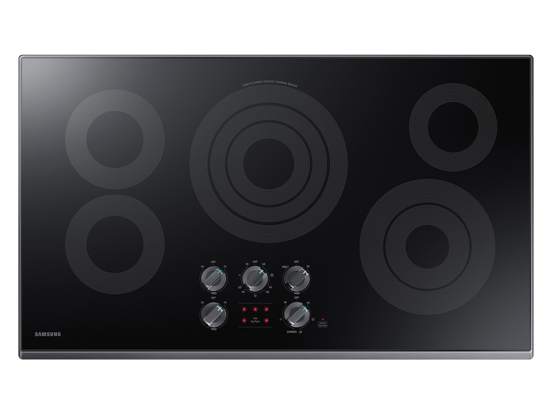 36 Inch Electric Cooktop In Black