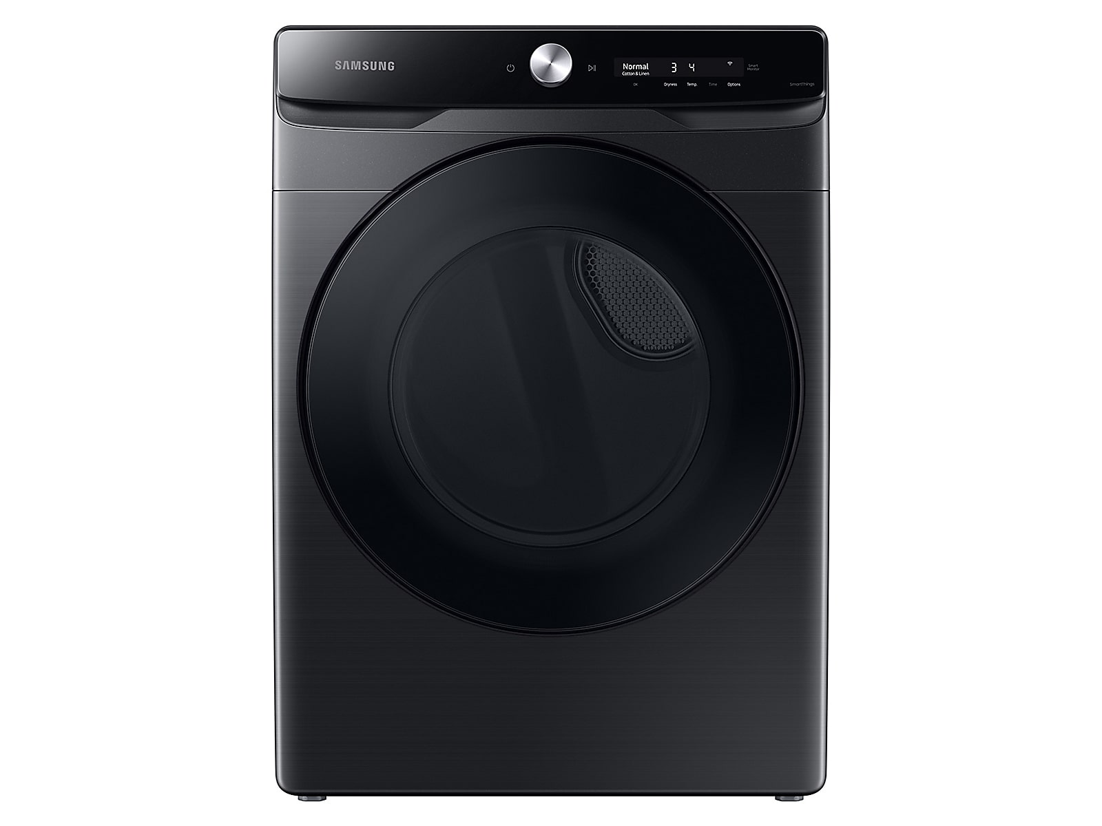 Samsung coupon: Samsung 7.5 cu. ft. Smart Dial Gas Dryer with Super Speed Dry in Brushed Black(DVG50A8600V/A3)