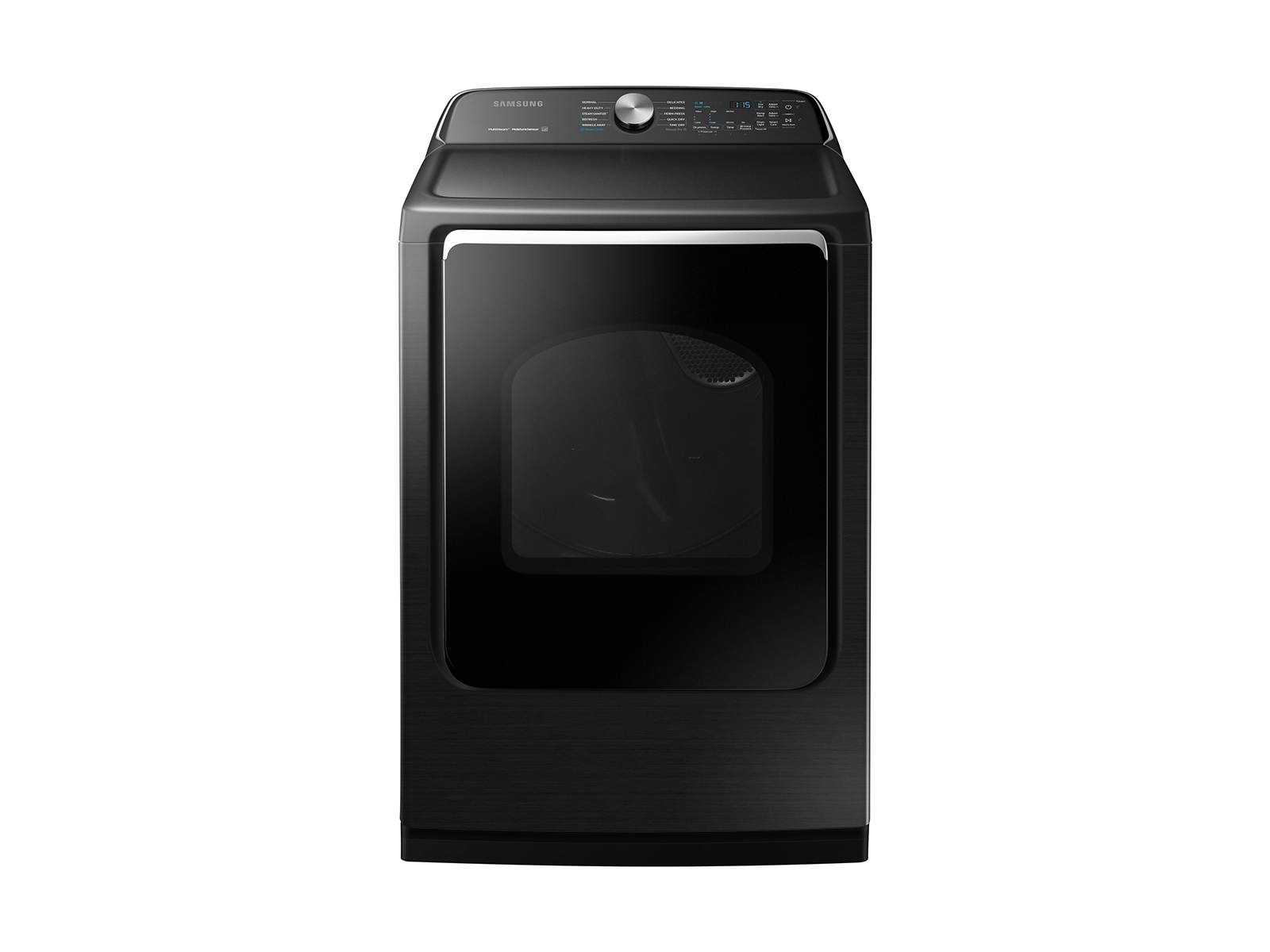 Samsung 7.4 cu. ft. Electric Dryer with Steam Sanitize+ in Black Stainless Steel, Fingerprint Resistant Black Stainless Steel