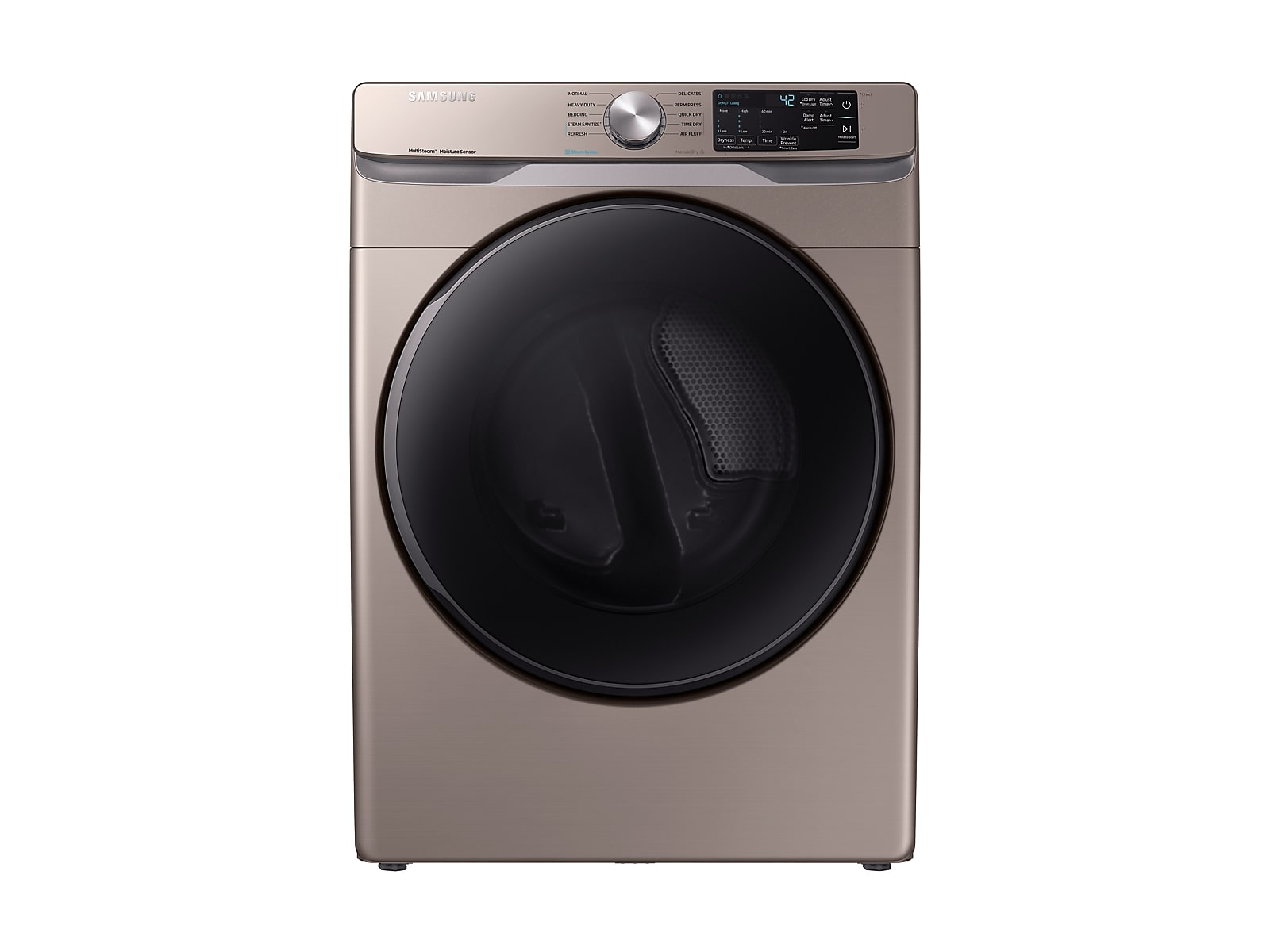 Samsung coupon: Samsung 7.5 cu. ft. Electric Dryer with Steam Sanitize+ in Champagne(DVE45R6100C/A3)