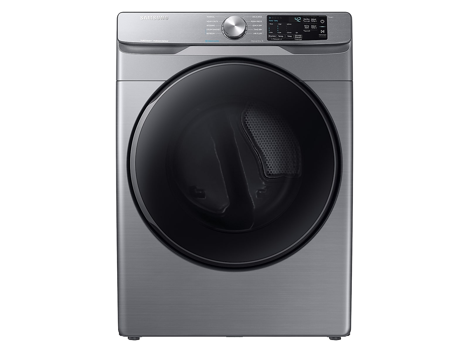 Samsung coupon: Samsung 7.5 cu. ft. Electric Dryer with Steam Sanitize+ in Platinum(DVE45R6100P/A3)