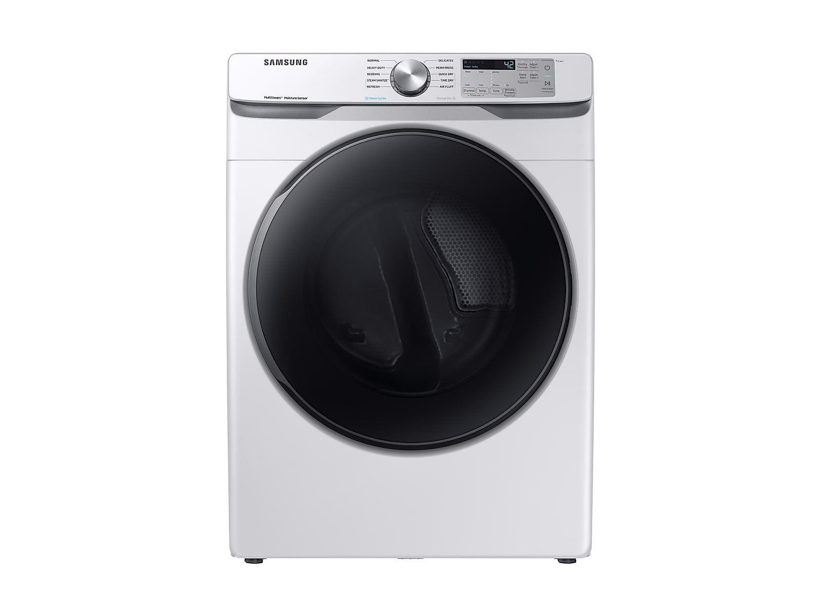 Samsung coupon: Samsung 7.5 cu. ft. Electric Dryer with Steam Sanitize+ in White(DVE45R6100W/A3)
