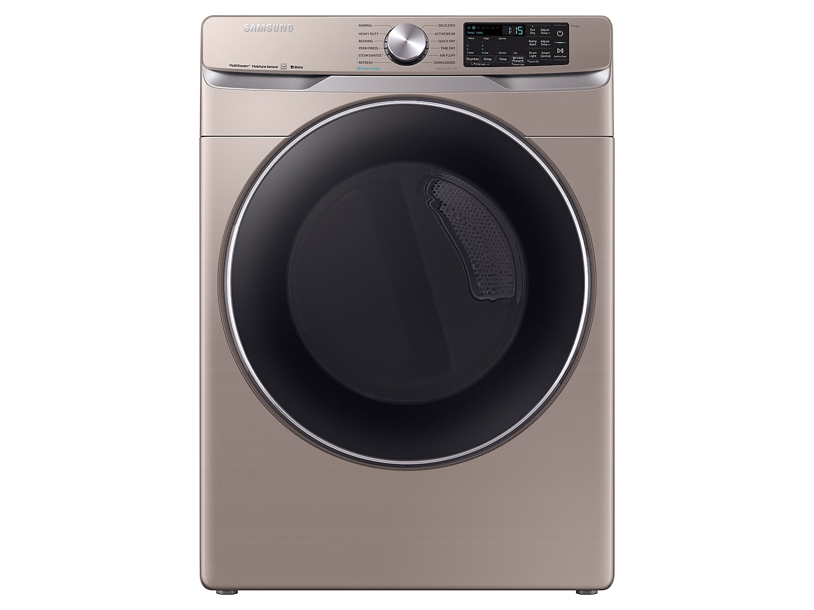 Samsung coupon: Samsung 7.5 cu. ft. Smart Electric Dryer with Steam Sanitize+ in Champagne(DVE45R6300C/A3)