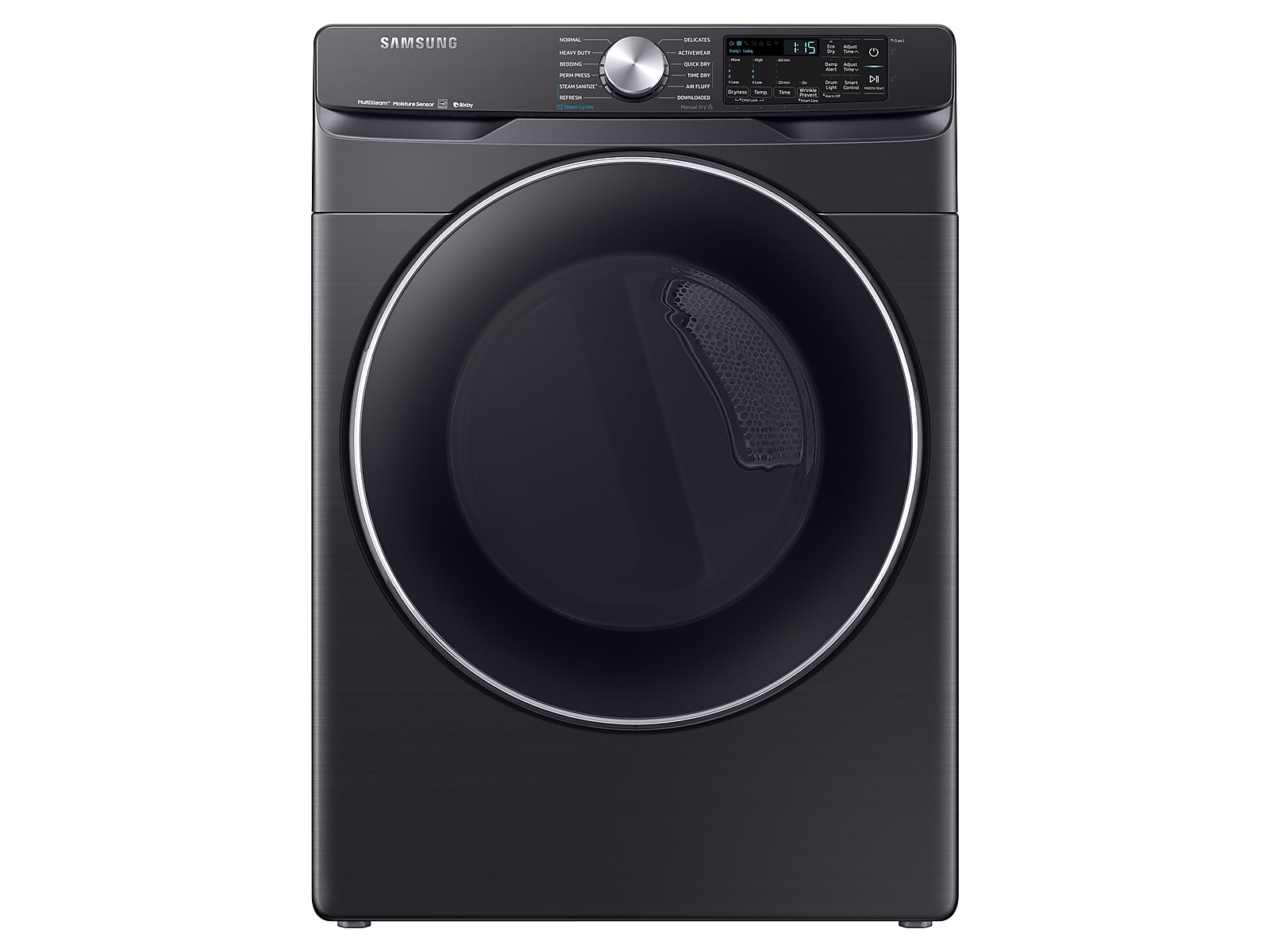 Samsung coupon: Samsung 7.5 cu. ft. Smart Electric Dryer with Steam Sanitize+ in Black Stainless Steel(DVE45R6300V/A3)