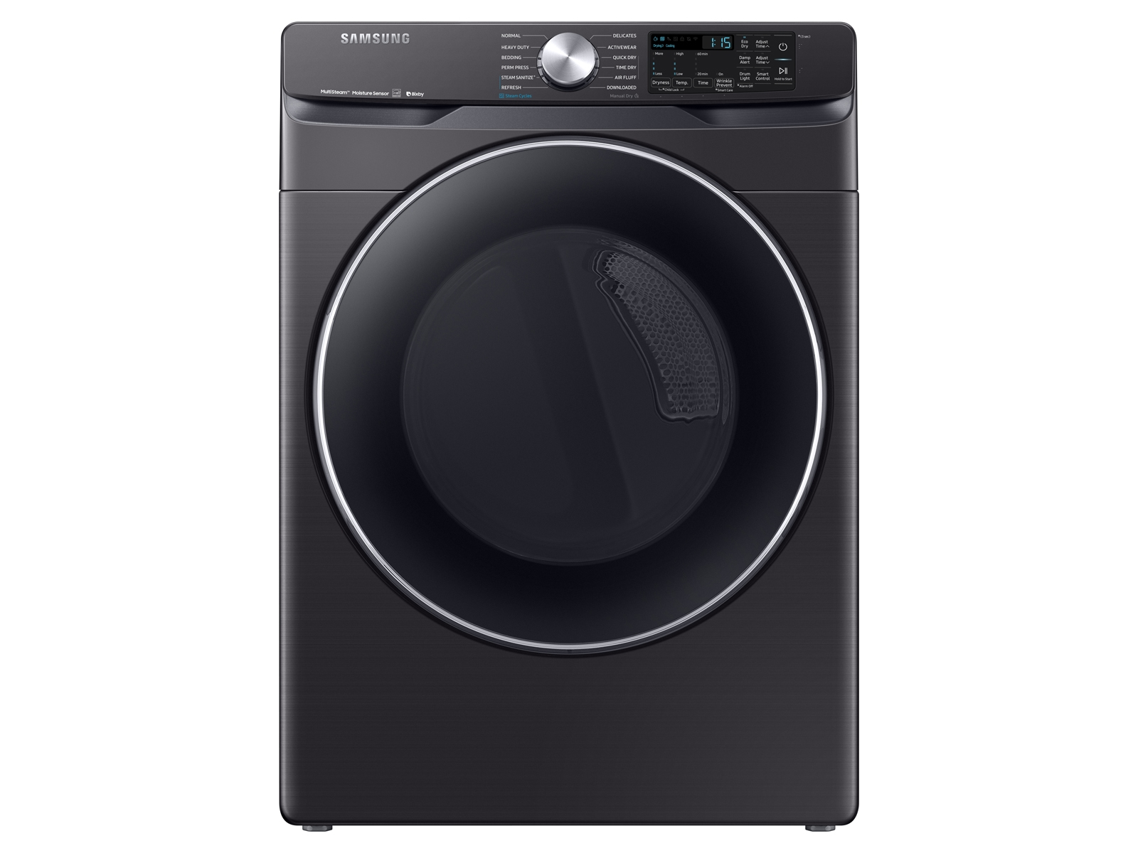 Samsung 7.5 cu. ft. Smart Electric Dryer with Steam Sanitize+ in Black Stainless Steel, Fingerprint Resistant Black Stainless Steel