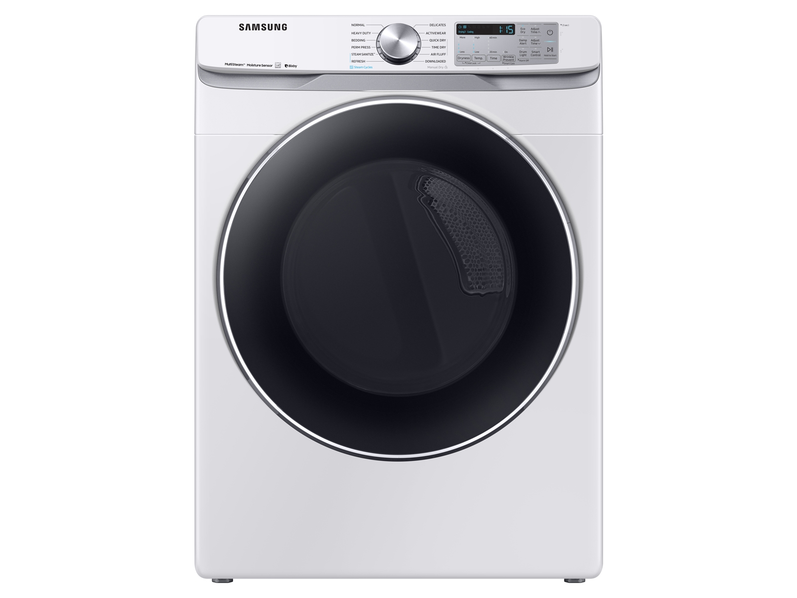 Samsung 7.5 cu. ft. Smart Electric Dryer with Steam Sanitize+ in White