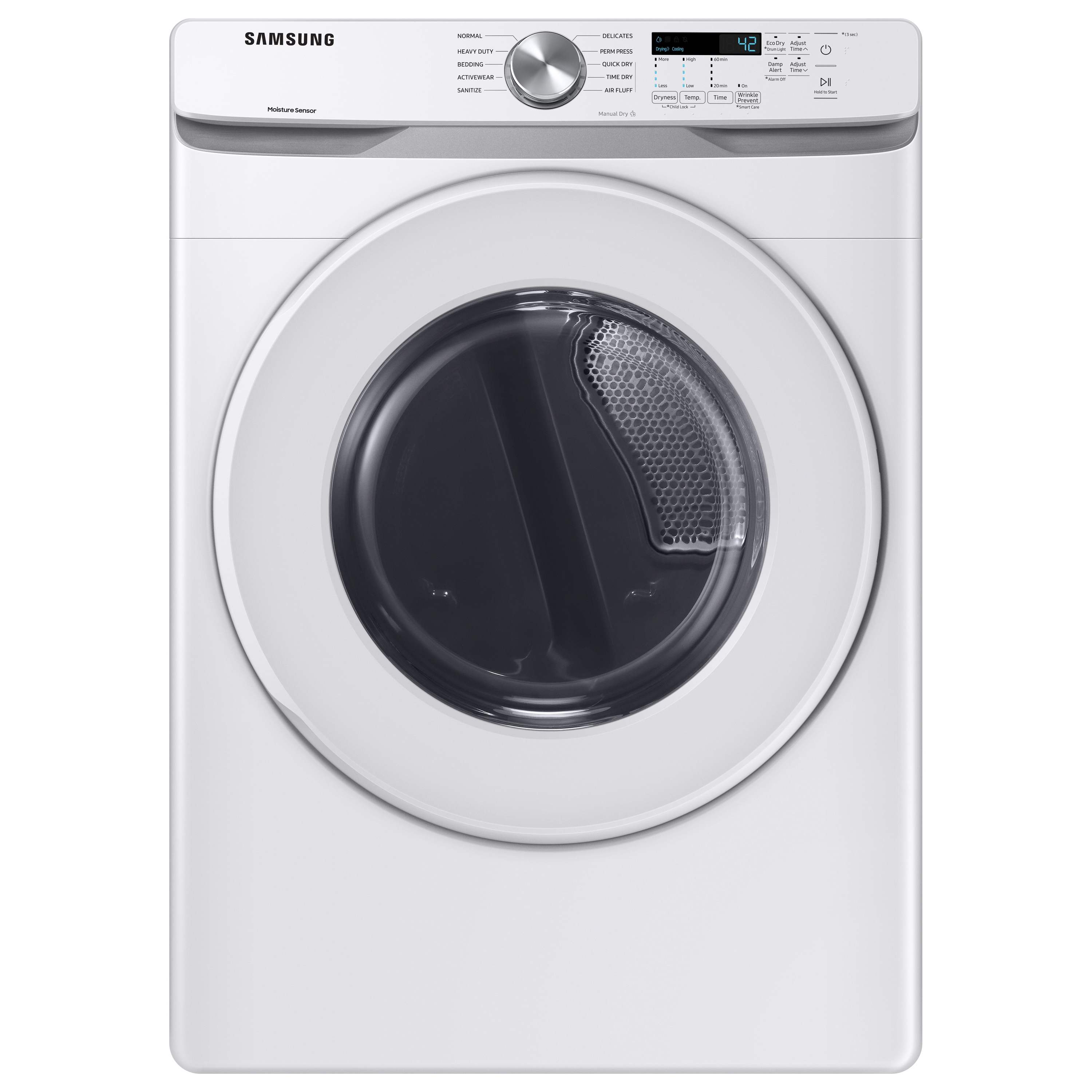 Samsung coupon: Samsung 7.5 cu. ft. Electric Long Vent Dryer with Sensor Dry in White (DVE45T6020W/A3)
