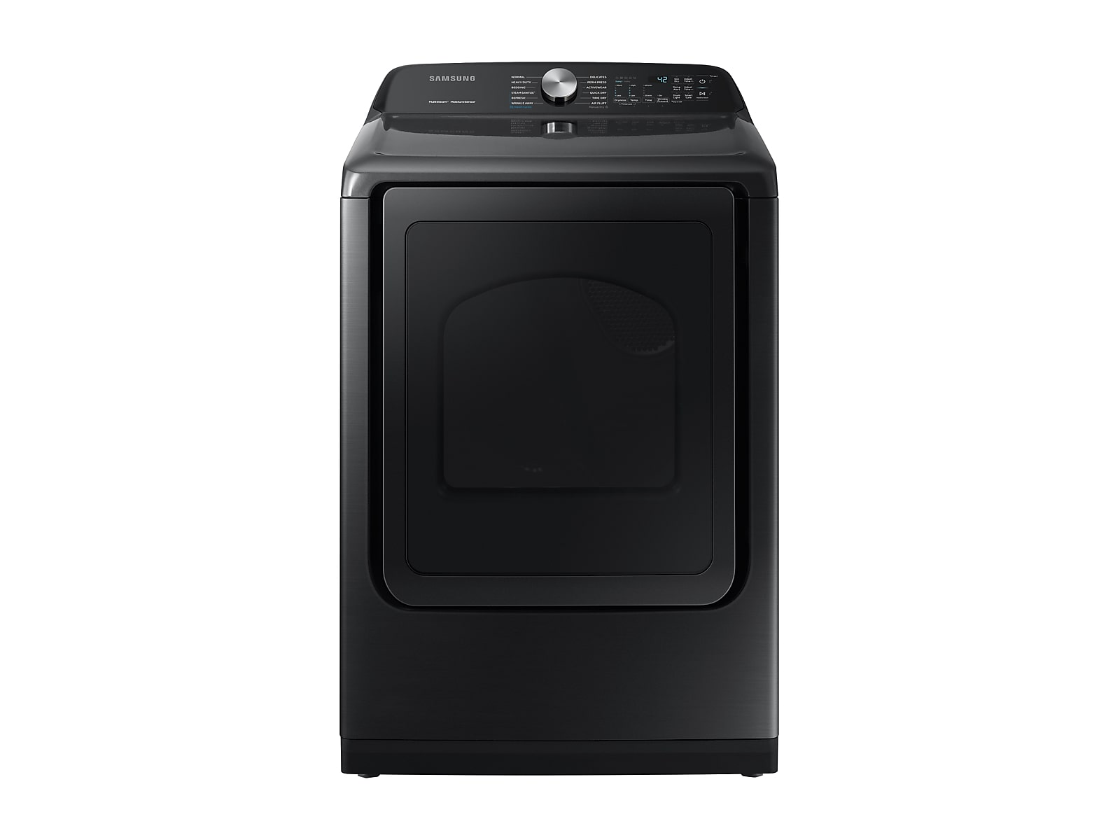 Samsung coupon: Samsung 7.4 cu. ft. Electric Dryer with Steam Sanitize+ in Black Stainless Steel(DVE50R5400V/A3)