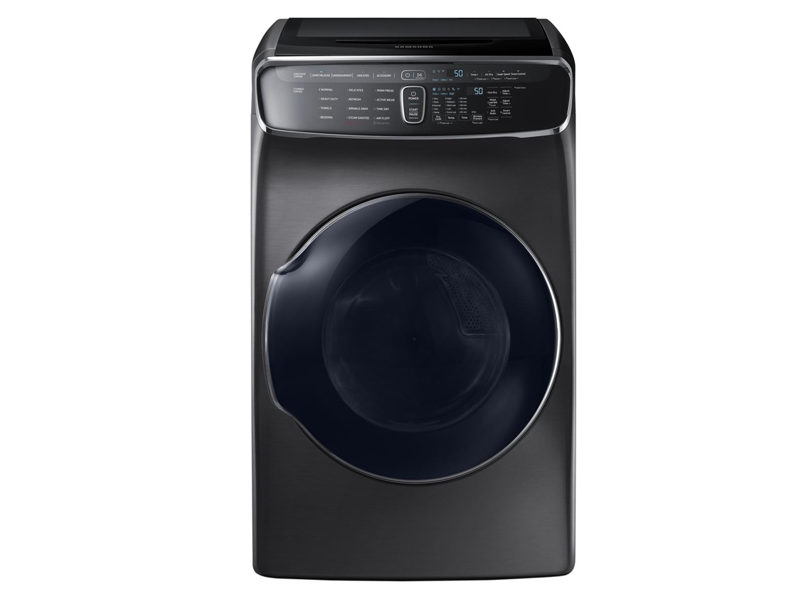Samsung 7.5 cu. ft. FlexDry Electric Dryer in Black Stainless Steel , Fingerprint Resistant Black Stainless Steel