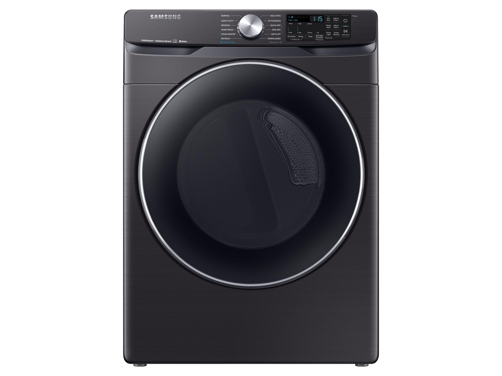 Samsung 7.5 cu. ft. Smart Gas Dryer with Steam Sanitize+ in Black Stainless Steel, Fingerprint Resistant Black Stainless Steel